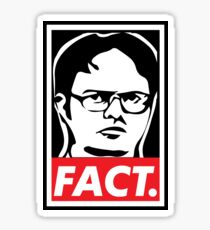 """The Office: Dwight """"FACT' Obey Sticker"""