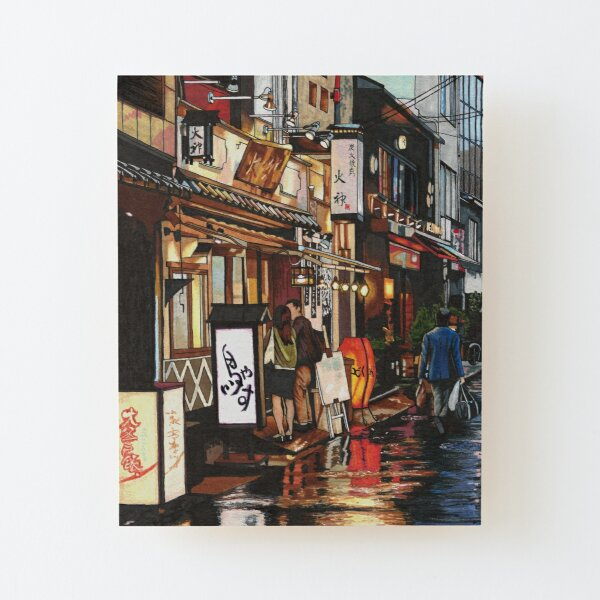 After The Rain in Tokyo Wood Mounted Print
