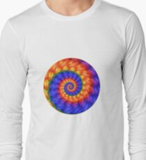 Beautiful Psychedelic Rainbow Spiral  Long Sleeve T-Shirt