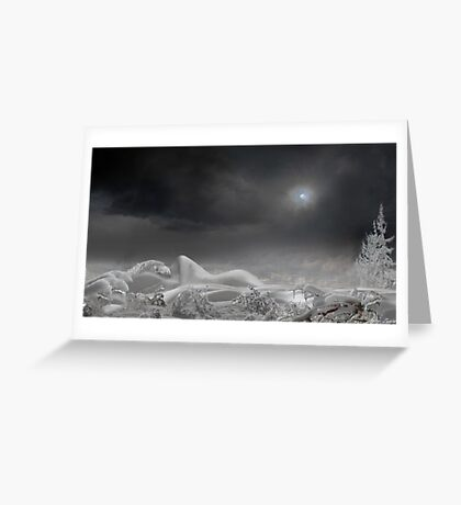The Snow Queen Dreams Greeting Card