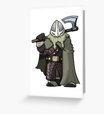 Attack The Tower Viking (Gaming Concept Art) Greeting Card