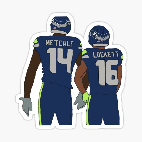 DK Metcalf & Tyler Lockett Sticker