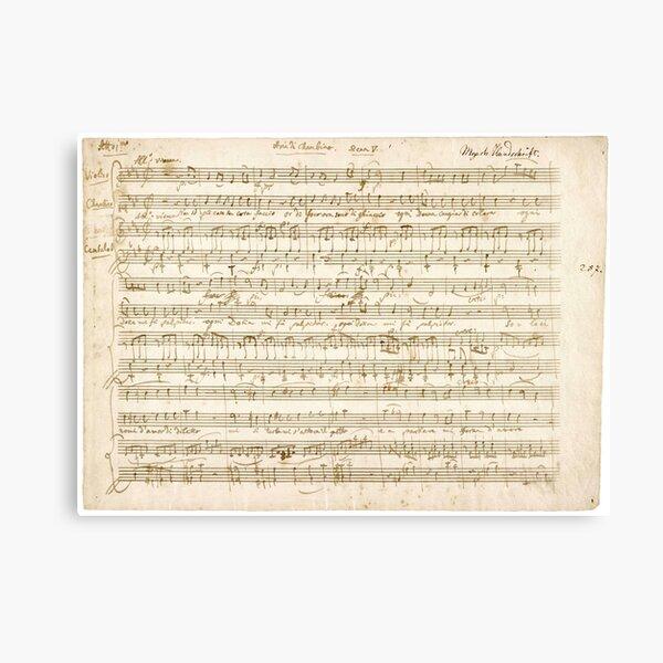 Mozart | Amadeus Mozart original manuscript score Canvas Print