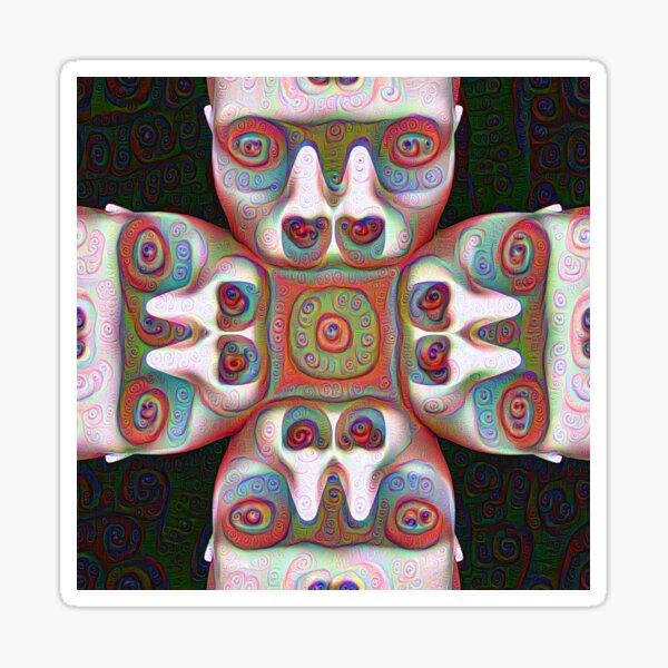 #DeepDream Masks 5x5K v1455625554 Sticker