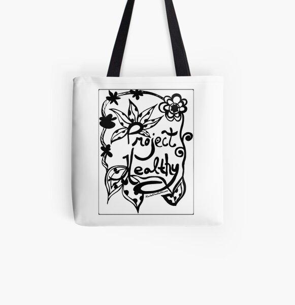 Rachel Doodle Art - Project Healthy All Over Print Tote Bag