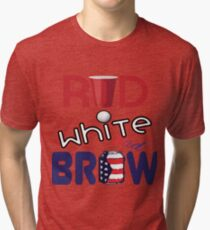 Red White and Brew  Tri-blend T-Shirt
