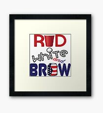 Red White and Brew  Framed Print