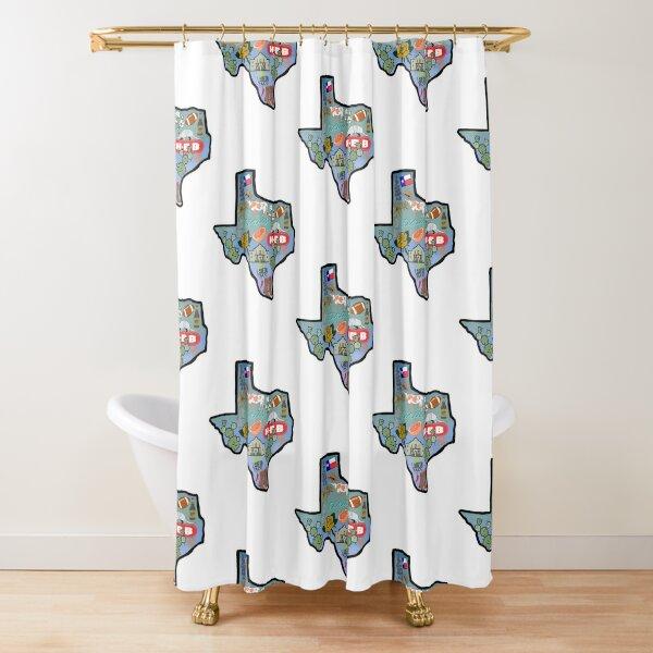 Texas Pride Sticker Shower Curtain