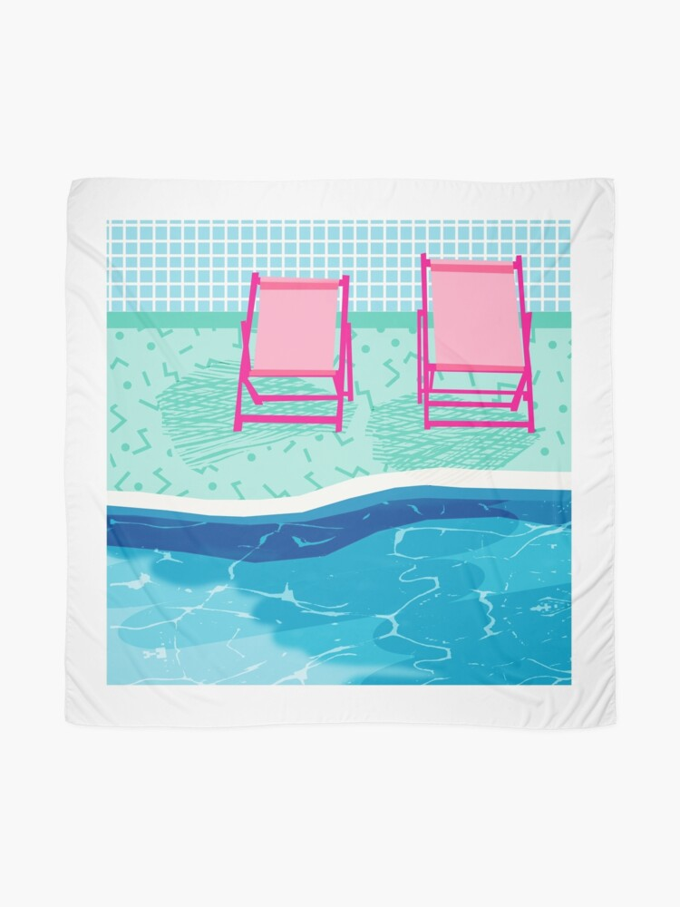 Alternate view of Vay-K - poolside throwback palm springs resort vacation country club retro minimal abstract hipster 1980s desert palm art Scarf