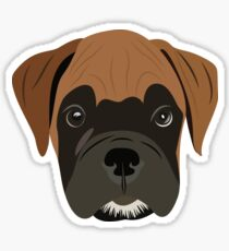 Boxer Puppy Love Sticker