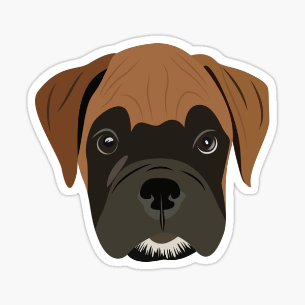 Boxer amor cachorro Pegatina