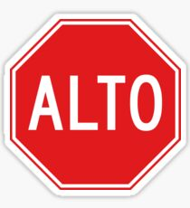 Stop, Road Sign, Mexico Sticker
