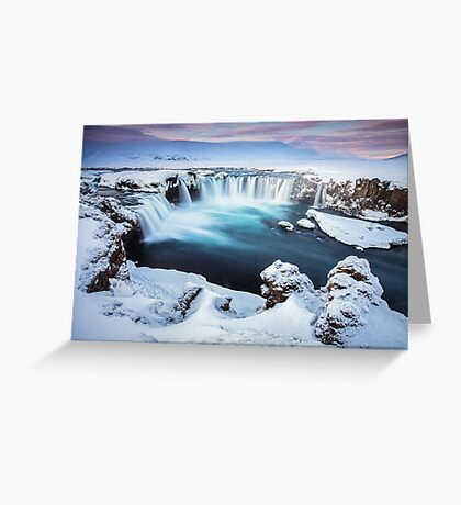 Godafoss - The waterfall of the gods Greeting Card