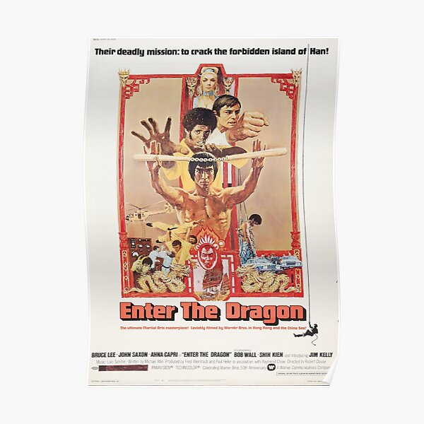 Bruce Lee enter the dragon movie poster Poster