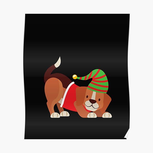 bernese mountain dog face christmas ,Gift Mom,Gift son,Gift dad,Gift friend Poster