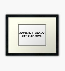 Motivational Inspirational Quotes Framed Print