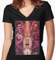 Shut Down Women's Fitted V-Neck T-Shirt