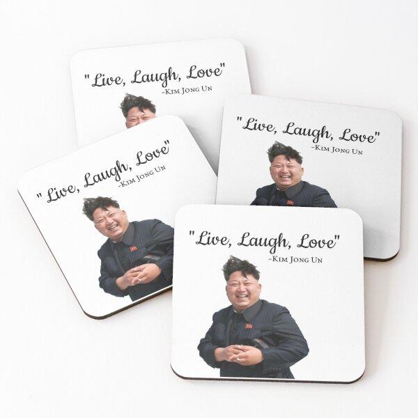 Kim Jong Un Live Laugh Love Coasters (Set of 4)