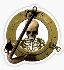 A Pirate Porthole View Sticker