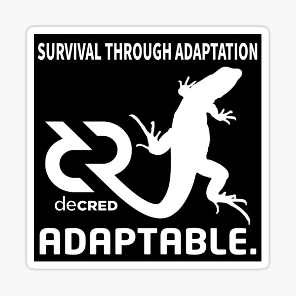 (sticker) Decred Adaptable v3 Sticker