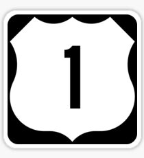 US Route 1 Sign, USA - Regular Version Sticker