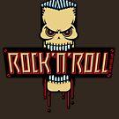 Rock 'n' Roll Skull by MrFaulbaum