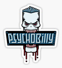 Psychobilly Skull Sticker