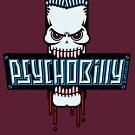 Psychobilly Skull by MrFaulbaum
