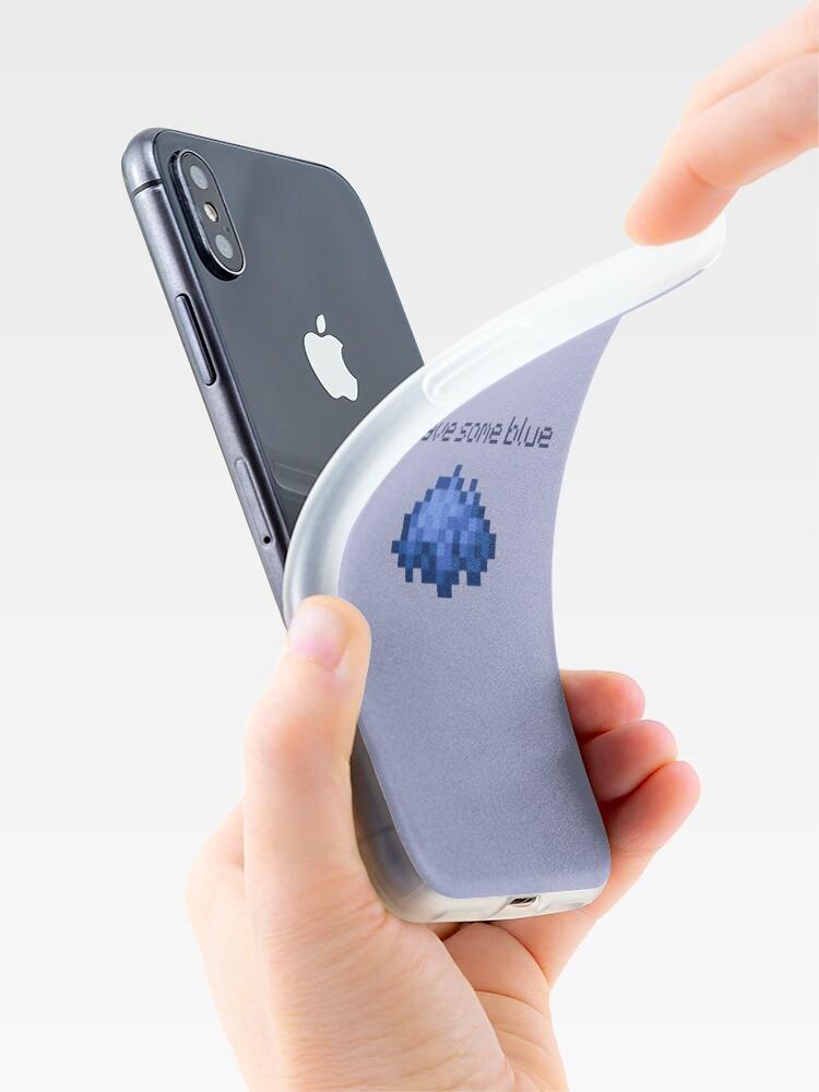 Coque iPhone ''avoir du bleu': autre vue