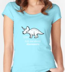 Ask Me About Dinosaurs Women's Fitted Scoop T-Shirt