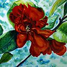 Red Camelia by Theresa Comstock