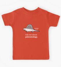Ask Me About Paleontology Kids Tee