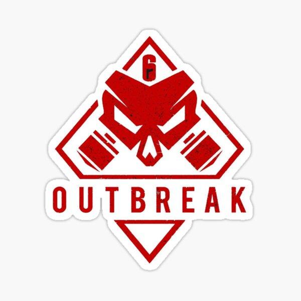 Gaming design, R6S logo Outbreak Sticker