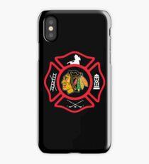 Chicago Fire - Blackhawks style iPhone Case