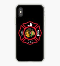 Chicago Fire - Blackhawks style iPhone Case