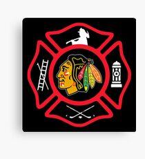Chicago Fire - Blackhawks style Canvas Print