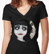 Dear little doll series... EUGENIA Women's Fitted V-Neck T-Shirt
