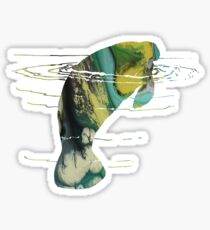 Manatee Art / Sea cow art Sticker