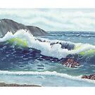 North Oregon Seacape USA by Barbara Applegate