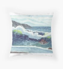 North Oregon Seacape USA Throw Pillow