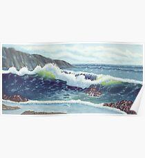 North Oregon Seacape USA Poster