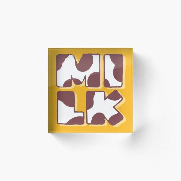 Milk Bar Life Acrylic Block