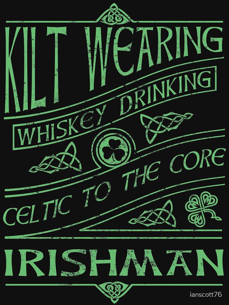 Kilt Wearing Irishman - green by ianscott76