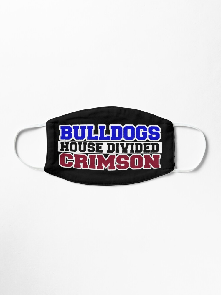 Alternate view of Bulldogs House Divided Crimson  Mask