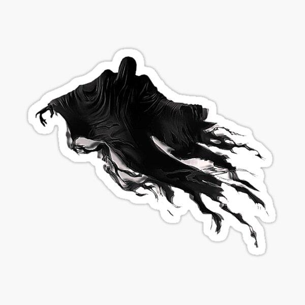 Floating Spirit Wizard Magic Silhouette Sticker