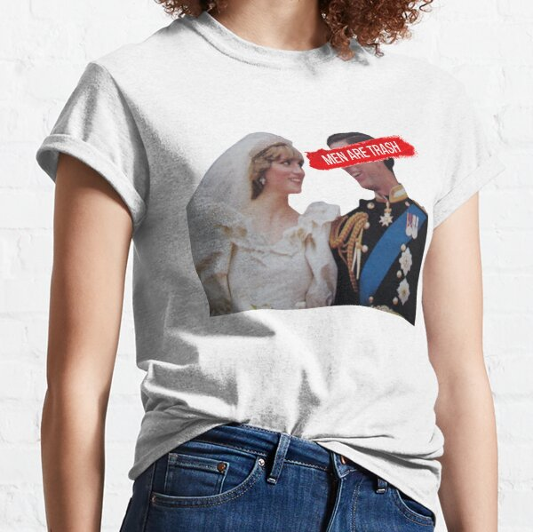 Men Are Trash Charles and Diana  Classic T-Shirt