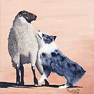 One Tough Sheepdog Australian Shepherd by Barbara Applegate