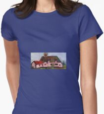 Medieval peasants thatched cottage  Womens Fitted T-Shirt