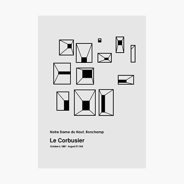 Le Corbusier Notre Dame du Haut Building Photographic Print