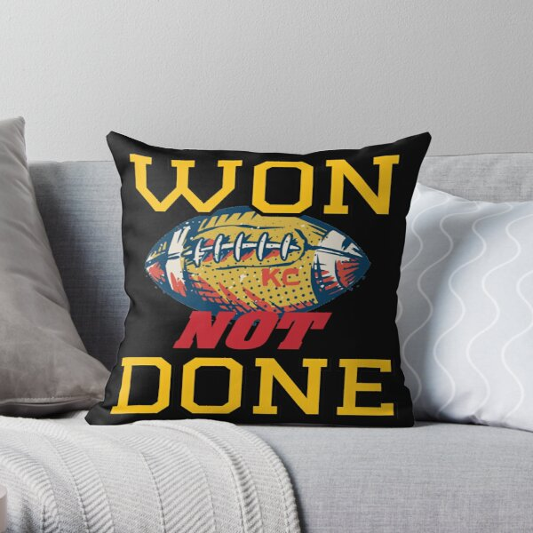 Won Not Done | KC Division Title 2020 | Next Stop: The Big Bowl Game Throw Pillow